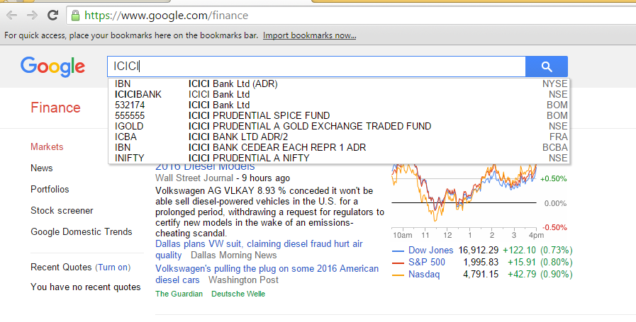 Search example 1 icici bank